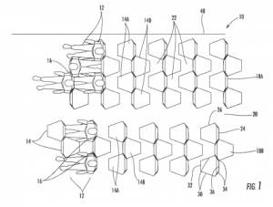 patente asientos hexagonales