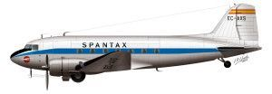 DC-3 de Spantax. Img: Juan Antonio Cifuentes