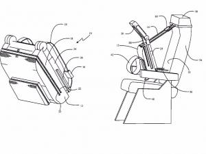 patente asiento mochila